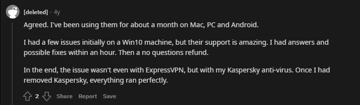 Express customer support