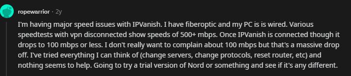 IPvanish Speeds