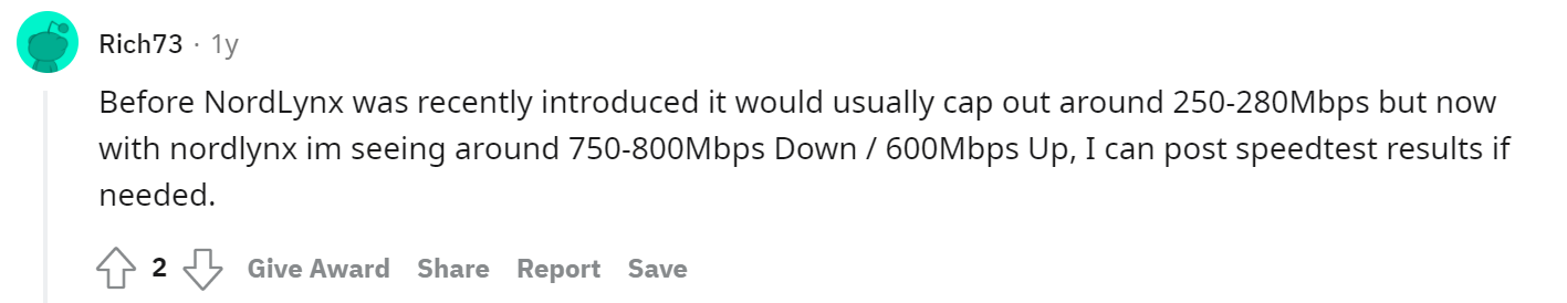 Opinions on NordVPN from Reddit